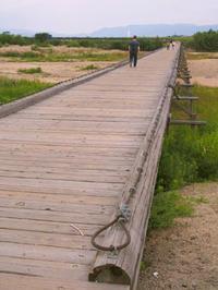 流れ橋 - Blue Planet Cafe  青い地球を散歩する