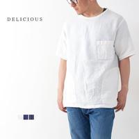 DELICIOUS [デリシャス] LINEN PULLOVER [DS4946] リネンプルオーバー ・半袖・リネンシャツ、ノーカラーシャツクルーネックシャツMEN'S - refalt blog
