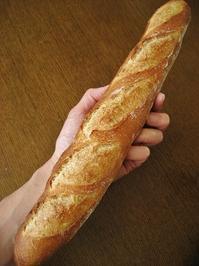 バゲット、久しぶりに逆方向のクープも試す - slow life,bread life