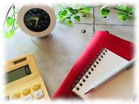 時計付き電卓 - 彩色生活