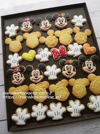 ミッキー&ミニーのアイシングクッキー - nanako*sweets-cafe♪