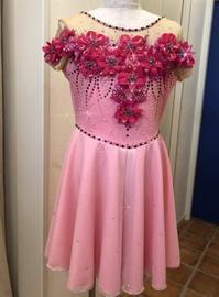 ダンストワリング衣装~flower - puffsleeve