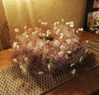 もふもふ可愛いリースつくり「季節のスモークツリーを使って・・・WS」編 - ドライフラワーギャラリー⁂ふくことカフェ
