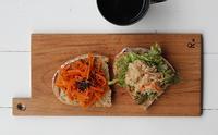 和惣菜でオープンサンド - Nasukon Pantry