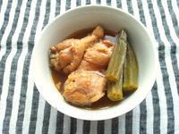 梅シロップで、手羽元の甘辛酢煮 - Minha Praia