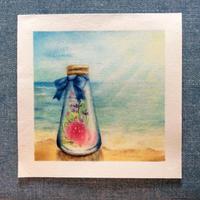 海と砂浜とハーバリウムと - 絵くぼのアトリエ