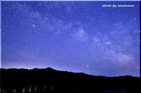 シューパロ湖で天の川 (2) - 北海道photo一撮り旅