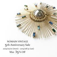 """""""5th Anniversary Sale""""スタートいたしました! - ヴィンテージジュエリー ショップ """"Nomain Vintage"""""""