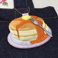 パンケーキのお名前チャーム^_^ - ソライロ刺繍