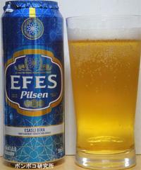 Efes Pilsen - ポンポコ研究所(アジアのお酒)