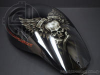 Harley Davidson NIGHTROD エアブラシペイント - カスタムペイント・スタジオグラッデン作業日誌