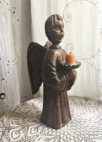木彫り天使のキャンドルスタンド - スペイン・バルセロナ・アンティーク gyu's shop