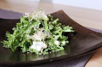 春菊でサラダ - おいしい便り