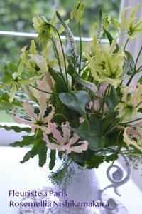Paris Style flower Arrangement Lesson - ローズメリア西鎌倉/パリ花レッスンと旬なCoquette.715    CHICFLIC 各バッグレッスン教室