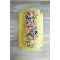 ブルーベリーと紅茶のロールケーキ - cuisine18 晴れのち晴れ