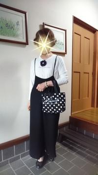 着てみたかったGUのサロペットワイドパンツです - 楽しく元気に暮らします