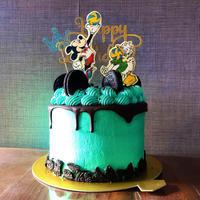 ミッキーとドナルドのバレーボールケーキ チョコミントオレオ - 幸せなトカゲ    ~おもにケーキをつくってます