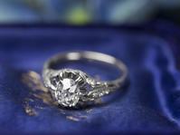「始まり★」0,71ct オールドマインカットダイヤモンド・33オリジナルプラチナリング - 欧州アンティーク・ジュエリー