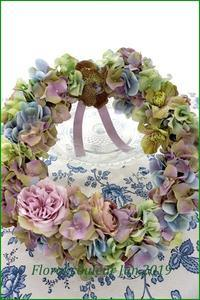 紫陽花を使ったリースⅡ - フラワースタジオクレール