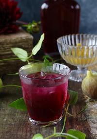 紫蘇ジュースと無花果のコンポート - ゆきなそう  猫とガーデニングの日記