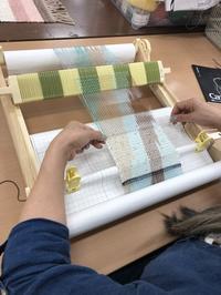 斜めずらし絣の講習風景 - 手染めと糸のワークショップ