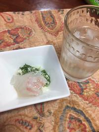 ディル塩麹で鯛の昆布締め - 地上50mでも野菜はできました、そして3mへ