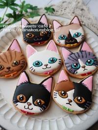 猫ちゃんアイシングクッキー&お知らせ - nanako*sweets-cafe♪
