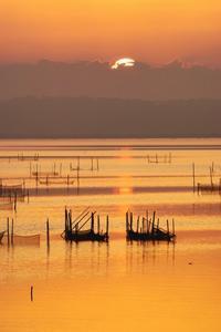 北印旛の陽の出2019-07-29更新 - 夕陽に魅せられて・・・