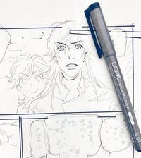 ペン入れのようす - 山田南平Blog