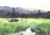 上高地水彩画 - はるさき水彩画blog