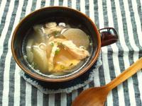 大根と鶏ハムの中華風塩麹スープ - Minha Praia