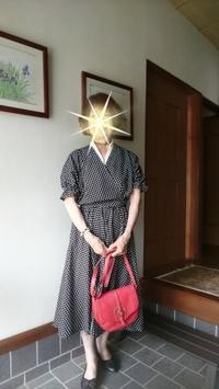 手作りのカシュクールのブラウスとギャザースカートで - 楽しく元気に暮らします
