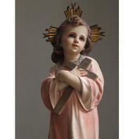 十字架を抱く幼子イエス 45cm  /G415 - Glicinia 古道具店