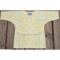 9685回 凧人オリジナル鯉口(子供サイズ)プルメリア黄色 - 今日の凧人