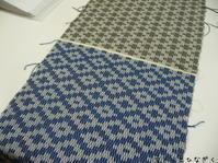 クラックル、千鳥、ストール2枚目(高機) - アトリエひなぎく 手織り日記
