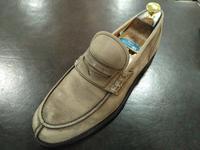 クリームジャーで色合わせ - 池袋西武5F靴磨き・シューリペア工房