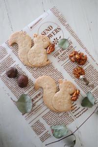 リスのクルミクッキー - おうちカフェ*hoppe