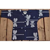 9686回 凧人オリジナル鯉口(子供サイズ)勝ち虫紺 - 今日の凧人