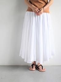 AHUJAS EMBROIDERY LONG SKIRT / WHITE - 『Bumpkins putting on airs』