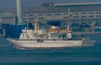 小暑!、  海洋調査研修船「望星丸」の出港 at 神戸港西関門付近 - みなと神戸 のんびり風物詩