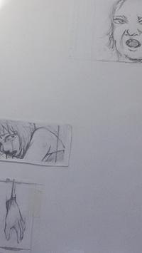 制作中下描き - HIRAKAWA JUN 平川 準 描いたり弾いたり