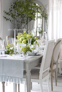 6月のテーブルコーディネート - フランス菓子教室 Paysage Calme