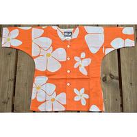 9687回 凧人オリジナル鯉口(子供サイズ)ビッグプルメリアオレンジ - 今日の凧人