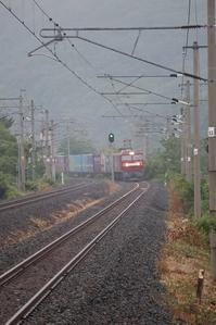 藤田八束の鉄道写真@梅雨空の中の貨物列車、霧に囲まれた貨物列車・・・季節を通してみる鉄道写真 - 藤田八束の日記