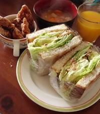 月曜日の昼に娘が作る定食*今日はチキン竜田サンド♪ - Baking Daily@TM5