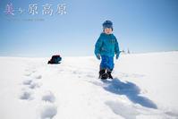 3歳5歳ちびっ子兄弟のスノーハイキング「美ヶ原高原」下山編 - Full of LIFE