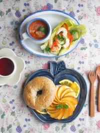 りんご皿朝ごはん - 陶器通販・益子焼 雑貨手作り陶器のサイトショップ 木のねのブログ
