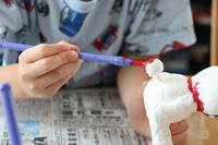 紙粘土の仕上げ - 大阪府池田市 幼児造形教室「はるいろクレヨンのブログ」