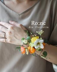 2019.7.8 ウェディングゲストにリストレットとブートニア/アーティフィシャルフラワー - Ro:zic die  floristin
