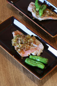 酒蒸し赤魚のネギダレかけ - KICHI,KITCHEN 2